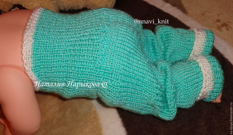 Вязанные штанишки для новорожденных схема