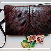 Винтаж ручной работы. Ярмарка Мастеров - ручная работа Женская ретро-сумка из змеинной кожи, винтаж, Австрия. Handmade.