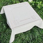 Для дома и интерьера handmade. Livemaster - original item Tablecloth 90/90 natural color 4 Kuban. Handmade.