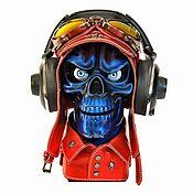 Субкультуры handmade. Livemaster - original item Stand for headphones Skull Version # 7 (project №2). Handmade.