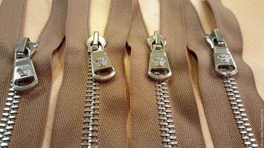 Шитье ручной работы. Ярмарка Мастеров - ручная работа. Купить Молнии «Versace» 65 см 2 замка. Handmade. Серебряный