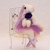 Куклы и игрушки ручной работы. Ярмарка Мастеров - ручная работа Зайка - Балерина в фиолетовой пачке. Handmade.