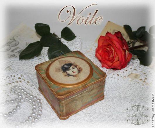 """Шкатулки ручной работы. Ярмарка Мастеров - ручная работа. Купить Шкатулка """"Voile"""" (Вуаль). Handmade. Шкатулка, вуалетка"""