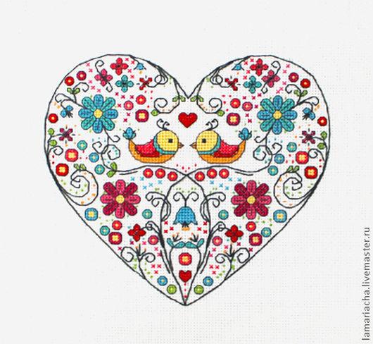 """Вышивка ручной работы. Ярмарка Мастеров - ручная работа. Купить Схема для вышивания крестом """"Ажурное сердце"""". Handmade. Схема для вышивки"""