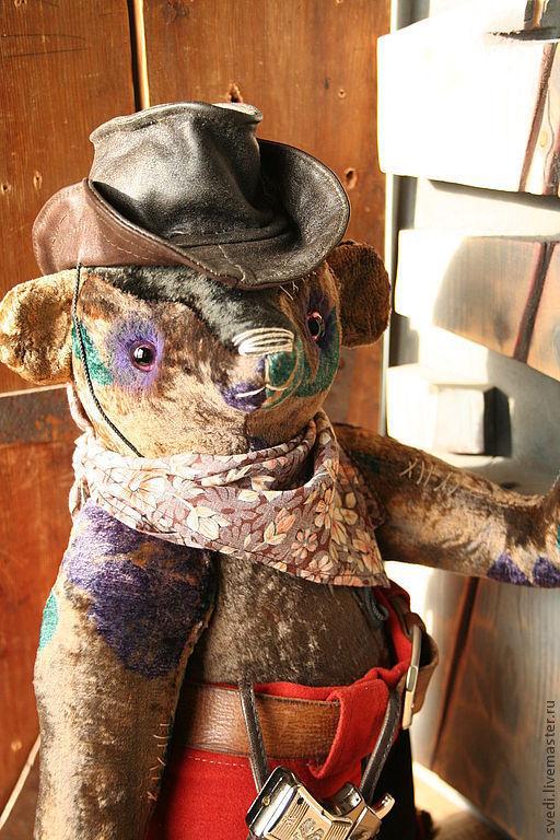 """Мишки Тедди ручной работы. Ярмарка Мастеров - ручная работа. Купить мишка тедди """" Ковбой для Екатерины"""". Handmade. Мишка"""