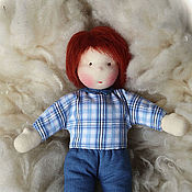 Куклы и игрушки ручной работы. Ярмарка Мастеров - ручная работа Тимоша 38 см - вальдорфская кукла. Handmade.