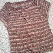 Одежда handmade. Livemaster - original item Knitted vest-t-shirt