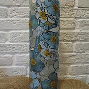 """Для дома и интерьера ручной работы. Ярмарка Мастеров - ручная работа Ваза """"Синие цветы"""". Handmade."""