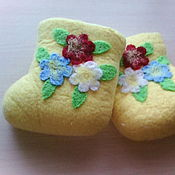 """Обувь ручной работы. Ярмарка Мастеров - ручная работа Валенки """"Мечты о лете"""". Handmade."""