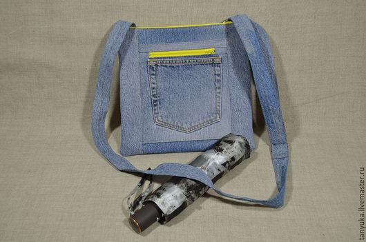 Женские сумки ручной работы. Ярмарка Мастеров - ручная работа. Купить Сумка-планшет джинсовая. Handmade. Сумка-планшет, джинс