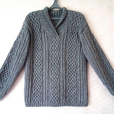 Одежда ручной работы. Ярмарка Мастеров - ручная работа Пуловер с  аранами. Handmade.