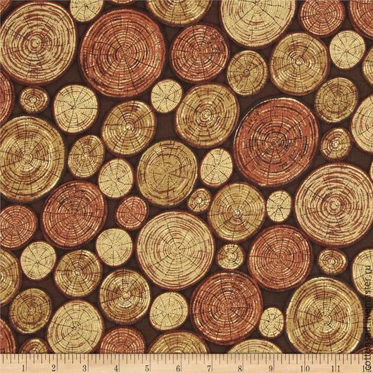 """Шитье ручной работы. Ярмарка Мастеров - ручная работа. Купить Ткань для печворка. (2 вида) """"Деревянные медальоны """". Хлопок США.. Handmade."""