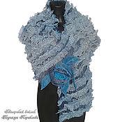 """Аксессуары ручной работы. Ярмарка Мастеров - ручная работа """"Летние грезы"""" шарф нуновойлок. Handmade."""