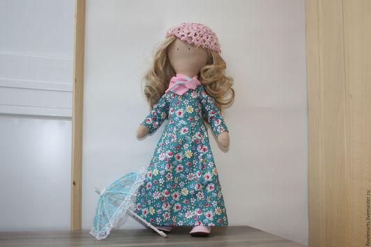 Куклы Тильды ручной работы. Ярмарка Мастеров - ручная работа. Купить Кукла текстильная барышня. Handmade. Кукла текстильная, кукла