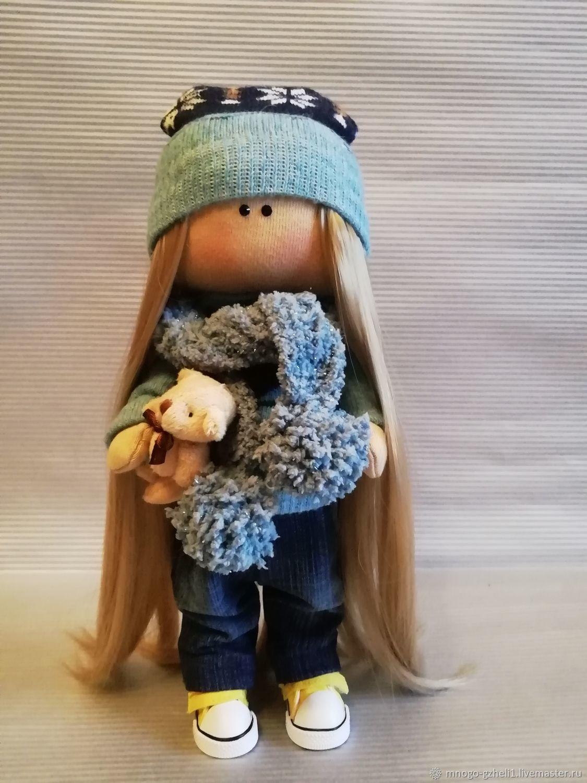 Интерьерная кукла ручной работы, Тыквоголовка, Москва,  Фото №1