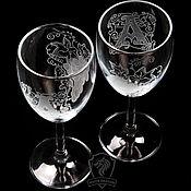 Посуда handmade. Livemaster - original item Grapes. wine glasses. Handmade.