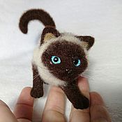 Куклы и игрушки handmade. Livemaster - original item Simcik, hunter, cat, felted wool. Handmade.