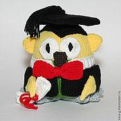 """Куклы и игрушки ручной работы. Ярмарка Мастеров - ручная работа вязаная игрушка """"филин"""". Handmade."""