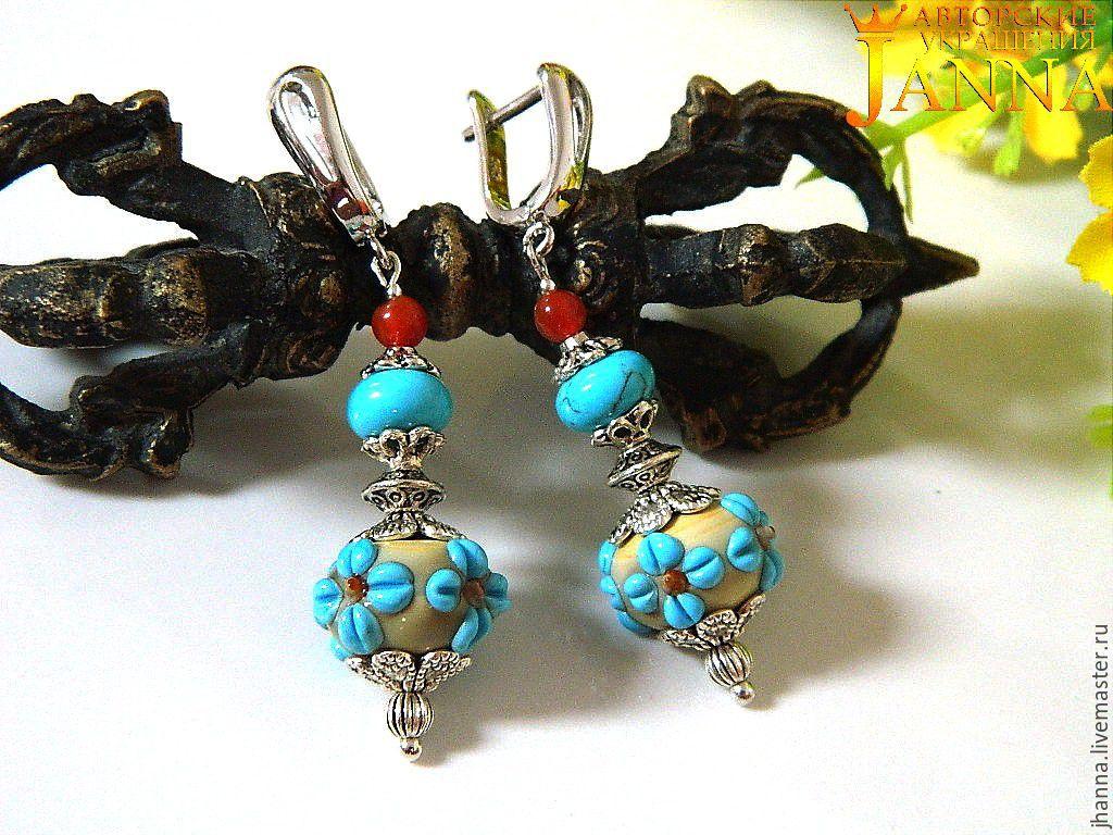Earrings 'Daisy', Earrings, Volgograd,  Фото №1
