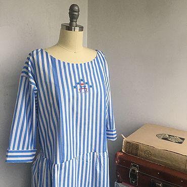 Одежда ручной работы. Ярмарка Мастеров - ручная работа Платье «Круизное» NEW. Handmade.