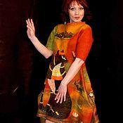"""Одежда ручной работы. Ярмарка Мастеров - ручная работа Валяное платье """"Египет"""". Handmade."""