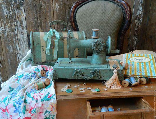 Детская ручной работы. Ярмарка Мастеров - ручная работа. Купить Швейная машинка Charme Paris. Handmade. Бирюзовый, французский шик