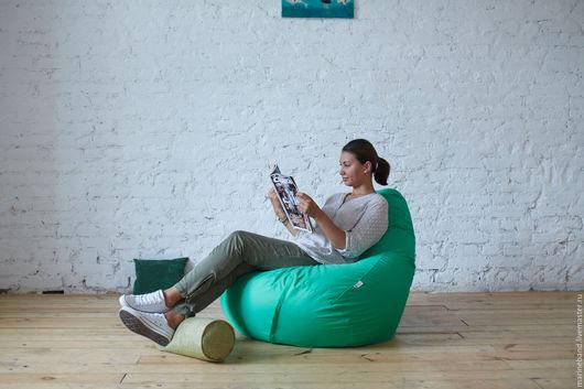 """Мебель ручной работы. Ярмарка Мастеров - ручная работа. Купить Кресло-мешок """"Ямайка"""". Handmade. Ярко-зелёный, подушка, пуфик"""