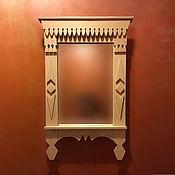 Для дома и интерьера ручной работы. Ярмарка Мастеров - ручная работа Зеркало в рамке-наличнике. Handmade.
