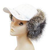 Винтаж handmade. Livemaster - original item Winter cap-baseball cap with ears. Unisex! Two types!. Handmade.