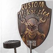 Вешалки ручной работы. Ярмарка Мастеров - ручная работа Настенная вешалка для шлема Custom Motorcycles. Подарок для байкера. Handmade.