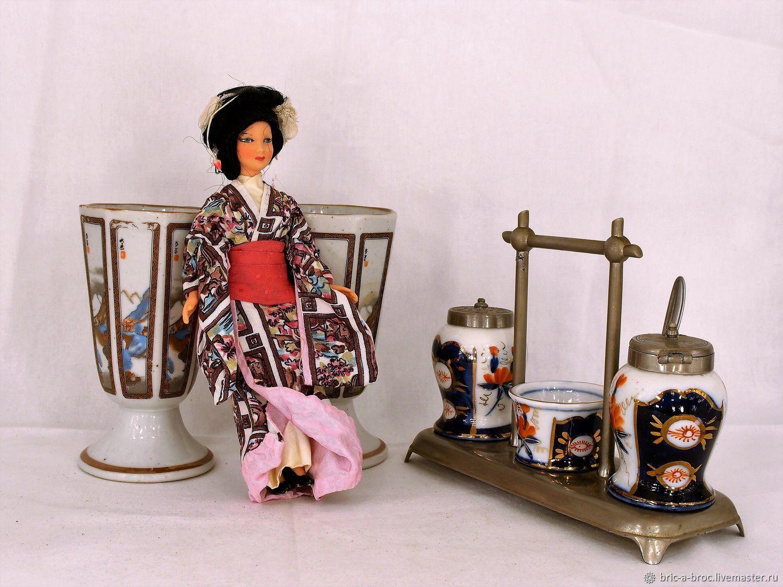 Винтаж: Винтажный круэт (набор для специй) в стиле Шинуазри, Столовые приборы винтажные, Москва,  Фото №1
