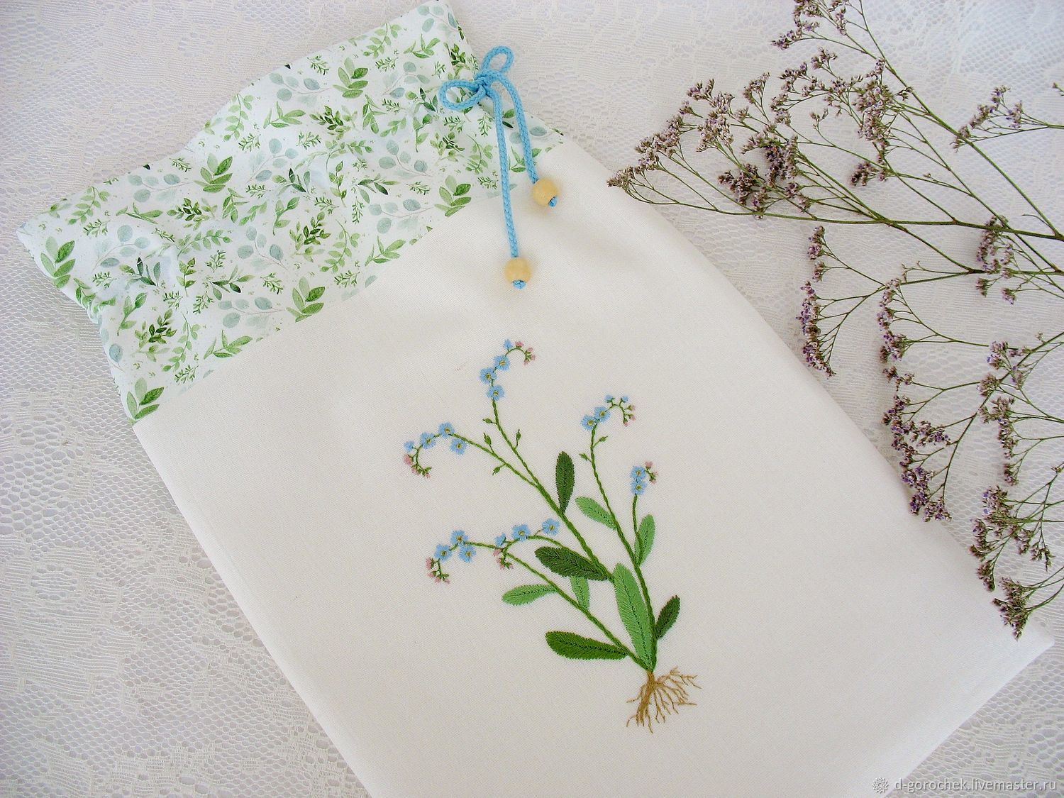 Bag for laundry and small things 'Forget-me-nots', Bags, Ekaterinburg,  Фото №1