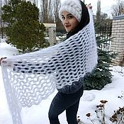 Аксессуары handmade. Livemaster - original item Women`s down scarf