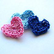 Материалы для творчества handmade. Livemaster - original item Knitted hearts. Item for scrapbooking. Handmade.