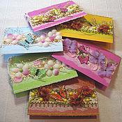 """Открытки ручной работы. Ярмарка Мастеров - ручная работа Открытки """"Цветы и бабочки"""". Handmade."""