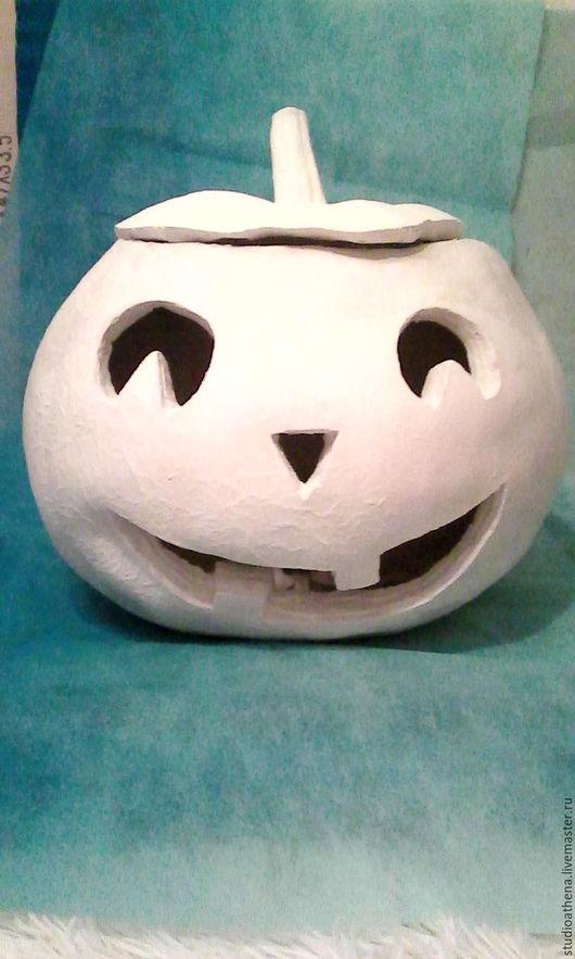 Подарки на Хэллоуин ручной работы. Ярмарка Мастеров - ручная работа. Купить Большая тыква подсвечник. Handmade. Белый, Праздник