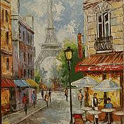 Картины и панно ручной работы. Ярмарка Мастеров - ручная работа в кафе Парижа. Handmade.