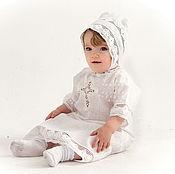 Работы для детей, handmade. Livemaster - original item Baptismal shirt Vologda lace 215. Handmade.