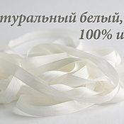 Материалы для творчества ручной работы. Ярмарка Мастеров - ручная работа Набор 100% шелковых лент, белые. Handmade.