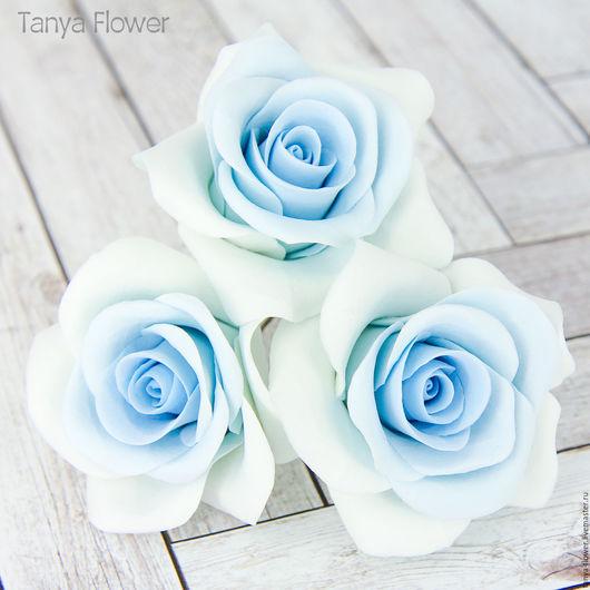 Свадебные украшения ручной работы. Ярмарка Мастеров - ручная работа. Купить Шпильки с голубыми розами (крупные). Handmade. Украшение для волос