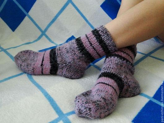 Носки, Чулки ручной работы. Ярмарка Мастеров - ручная работа. Купить Носки. Handmade. Разноцветный, пушистые, армированная нить