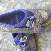"""Обувь ручной работы. Ярмарка Мастеров - ручная работа Тапочки """"Теплый вечер"""". Handmade."""