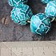 """Колье, бусы ручной работы. Бусина """"Azure"""" фарфор,глазурь. Ceramic Tales by Valentina Fadeeva. Ярмарка Мастеров. византия"""