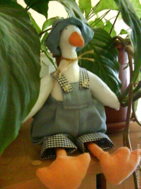 Куклы Тильды ручной работы. Ярмарка Мастеров - ручная работа. Купить Тильда Гусь. Handmade. Тильды, рождественский подарок, лШн