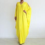 Одежда ручной работы. Ярмарка Мастеров - ручная работа Длинное платье, платье в пол, кафтан, макси платье, летне платье. Handmade.