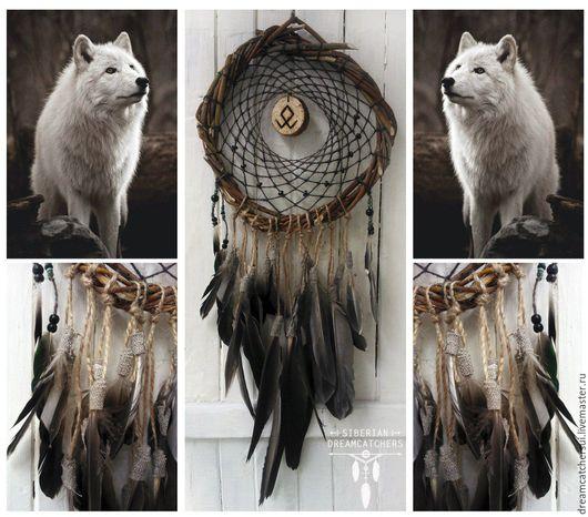 """Ловцы снов ручной работы. Ярмарка Мастеров - ручная работа. Купить Ловец снов """"Под знаком волка"""". Handmade."""