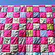 `Розовое лето` - покрывало, подушки. Наталья Шестакова - дизайнер, декоратор.