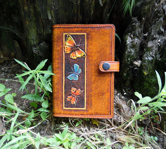 """Для телефонов ручной работы. Ярмарка Мастеров - ручная работа. Купить Чехол для электронной книги """"Бабочки"""". Handmade. Рыжий, для ipad"""