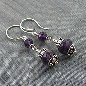 """Украшения ручной работы. Ярмарка Мастеров - ручная работа Серьги """"Royal purple"""". Handmade."""
