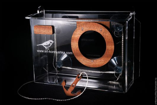 Кормушка для птиц оконная `Арт-фотокамера`